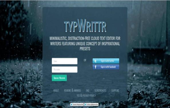 typWrittr Login Page