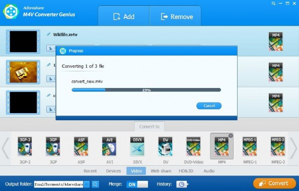 Adoreshare M4V Converter Genius Features