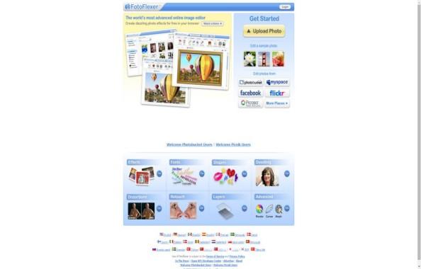 FotoFlexer to edit png online