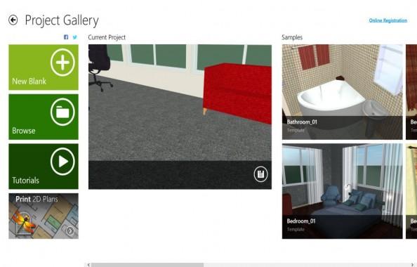 Live Interior 3D Pro Main UI