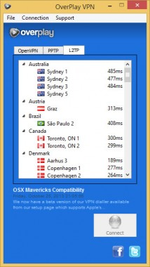 OverPlay VPN Advanced Options