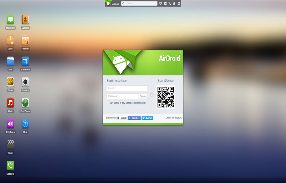 AirDroid Android Apps Backup