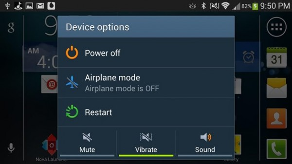 Restarting Android device
