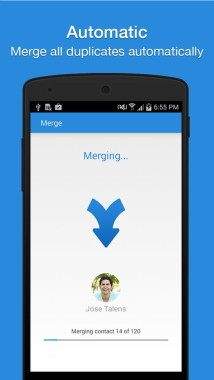android merge duplicate contacts
