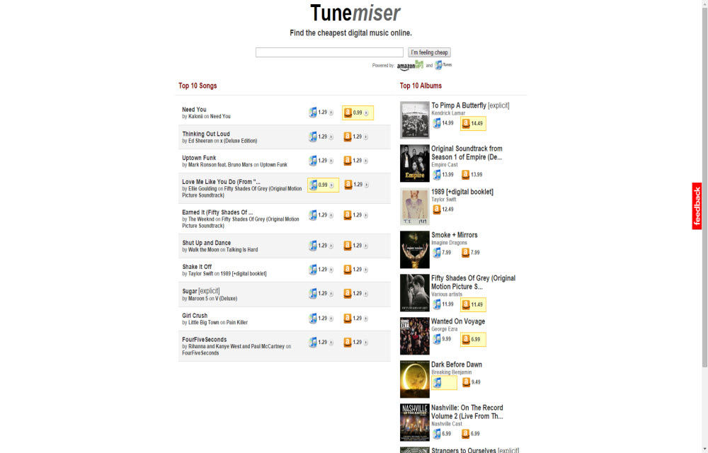 Get Music For Best Price By Comparing Amazon and iTunes With Tunemiser