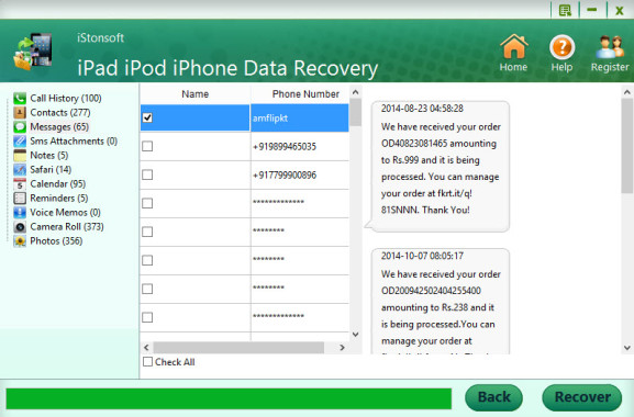 how to recover lost iphone messages
