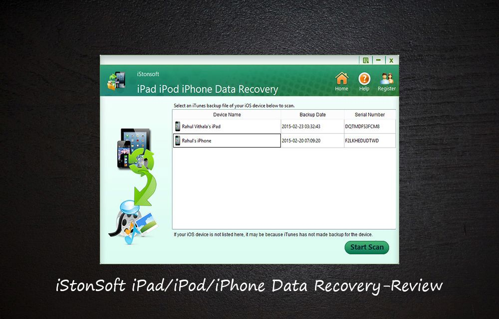 iStonSoft iPad/iPod/iPhone Data Recovery-Review