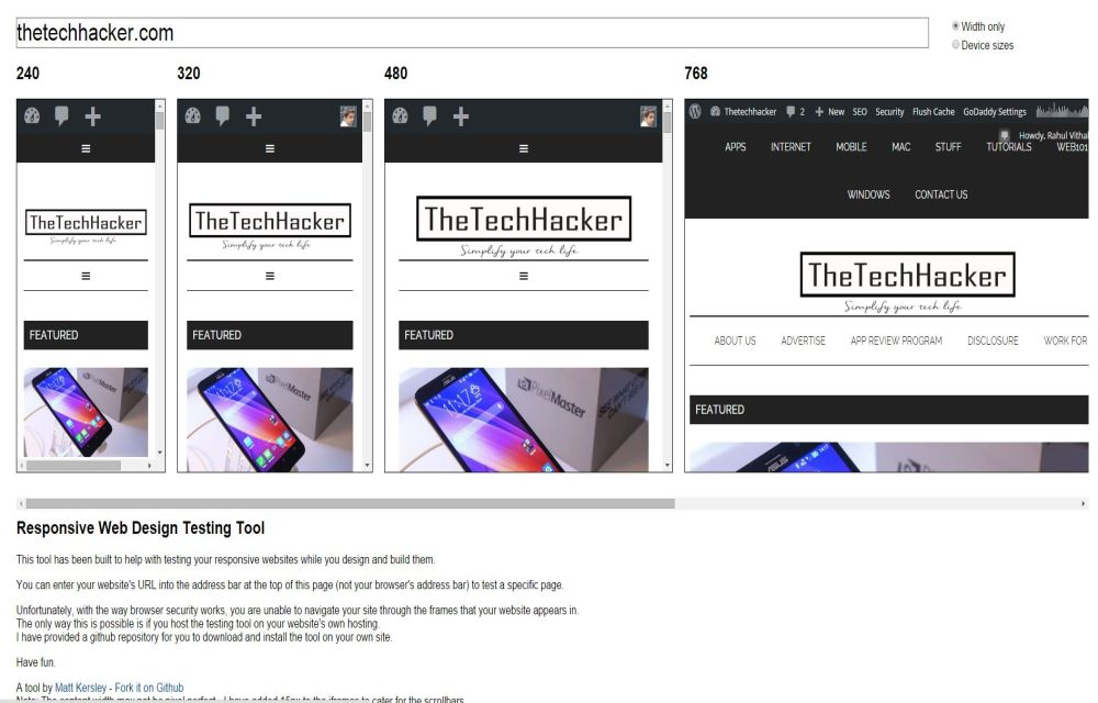 How To Check Mobile Responsiveness Of A Website list of tools