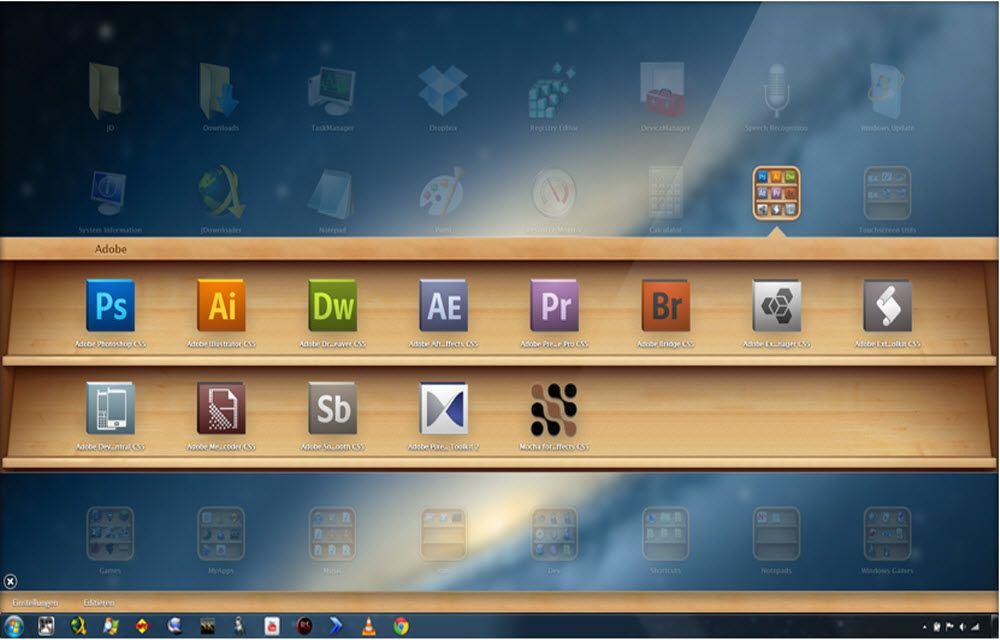 Install Mac OS X Launchpad On Windows With WinLaunch App