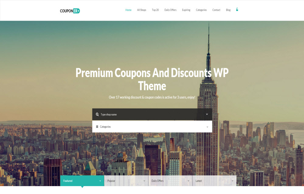 Coupon Theme for WordPress