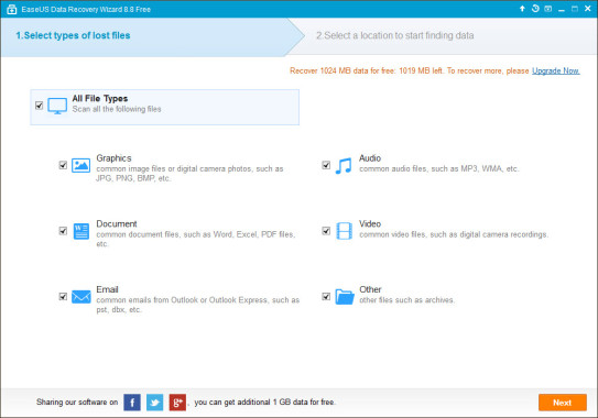 EaseUS Data Recovery Home Features