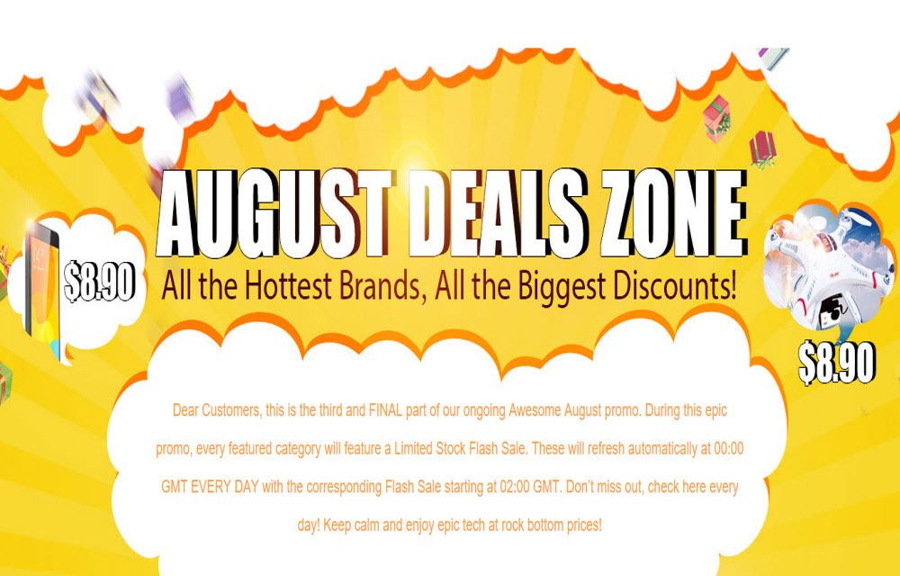 Gearbest Brings New August Flash Sale Deals