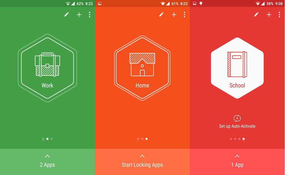 Hexlock Android App Locking Profiles