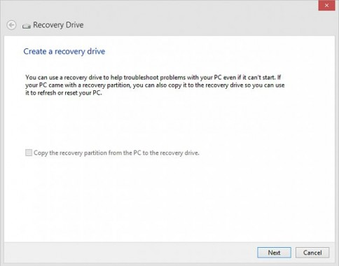 Recovery Drive In Windows 10