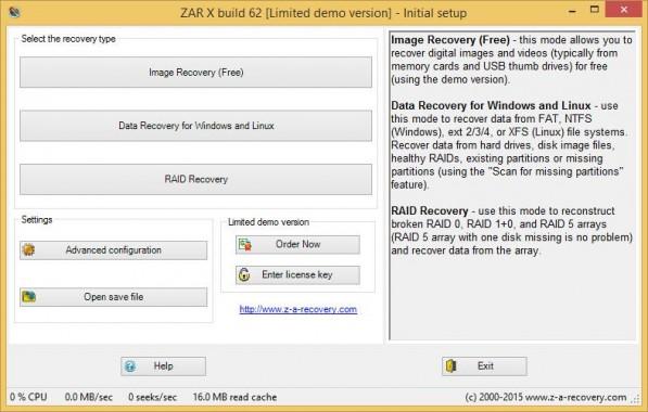 ZAR X Data Recovery