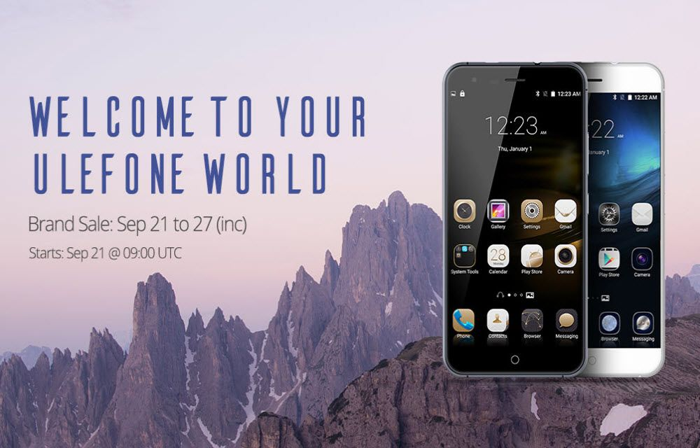 Ulefone Smartphone's Big Discount Sale at Everbuying (September 21 to 27)
