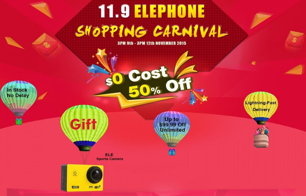 Elephone Shopping Carnival on 9th and 12th November Details