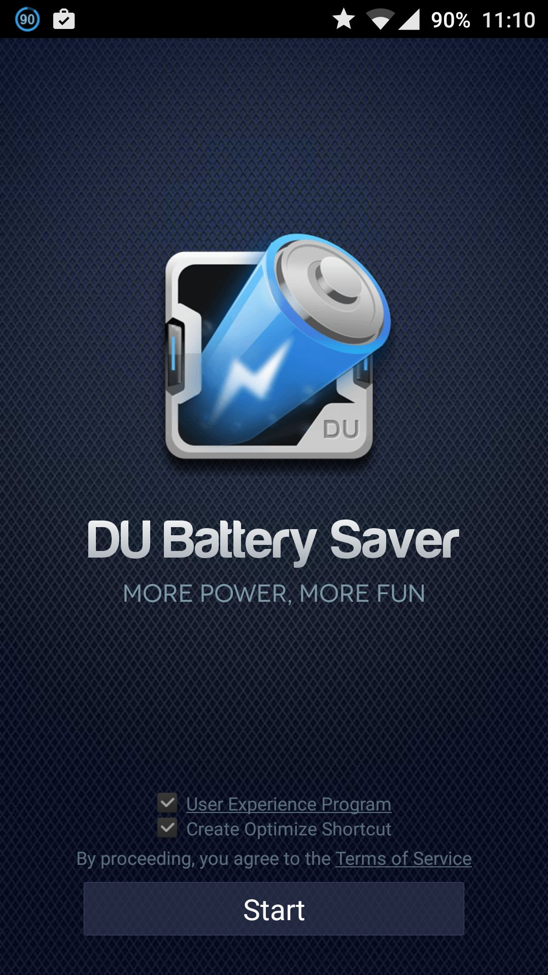 Du Battery Saver & Phone Charger User Interface