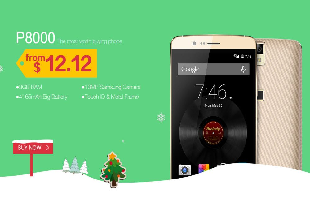 Elephone Double Twelve (December 12) Flash Sale for Four Days