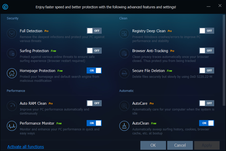 iobit-advanced-systemcare-9-classic-quick-settings