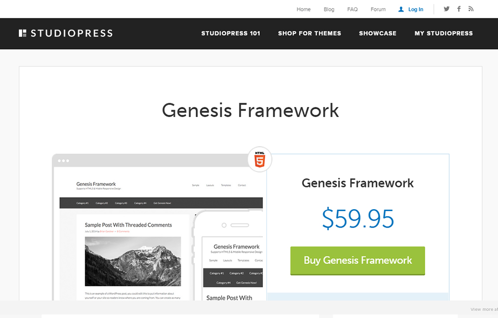 Genesis Framework WordPress Theme Review