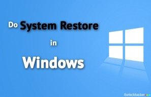 How to do a System Restore in Windows
