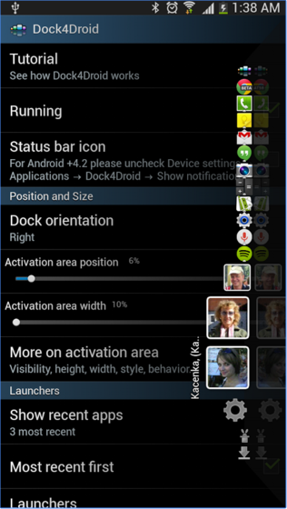 Dock4Droid - Dock Task Manager App