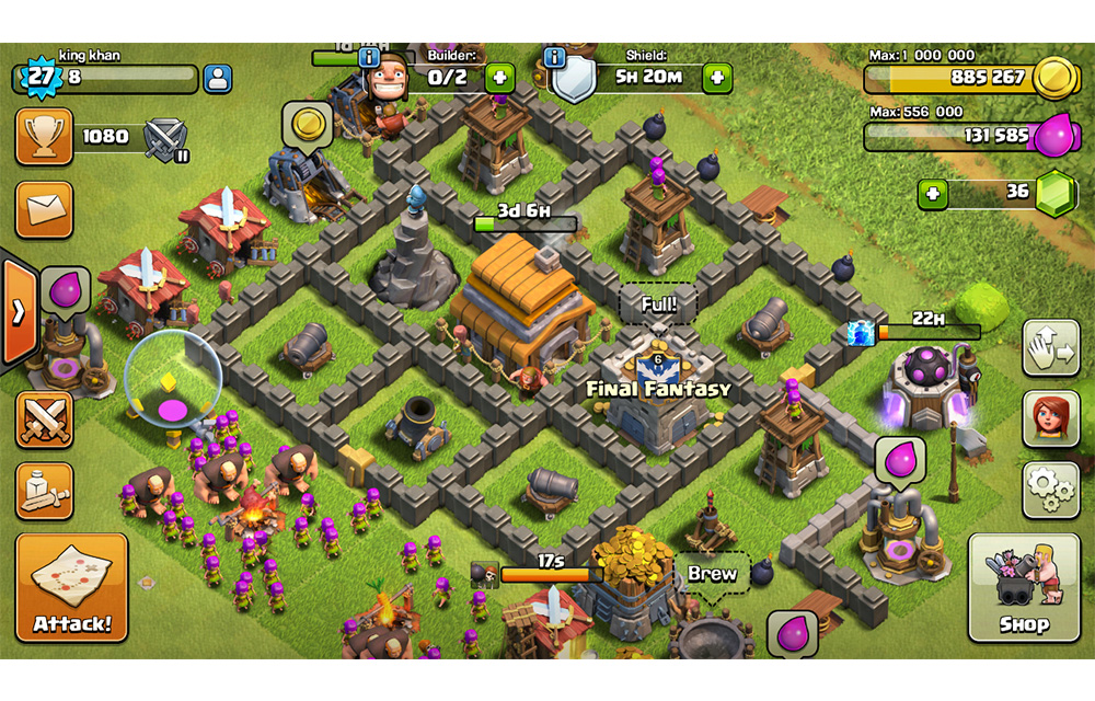 Clash of Clans Screenshot-gold