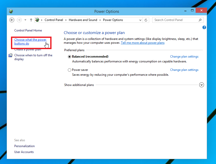 Enable Hibernate in Windows 10 - Step 2