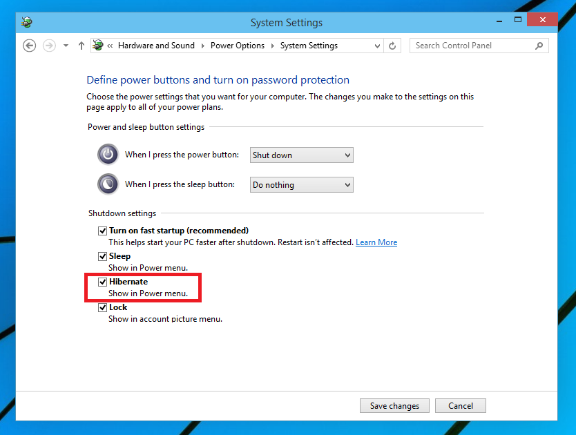 Enable Hibernate in Windows 10 - Step 3
