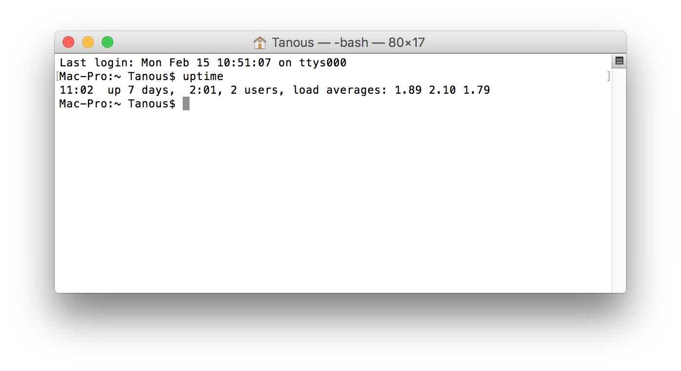 How to Find the Uptime of Mac