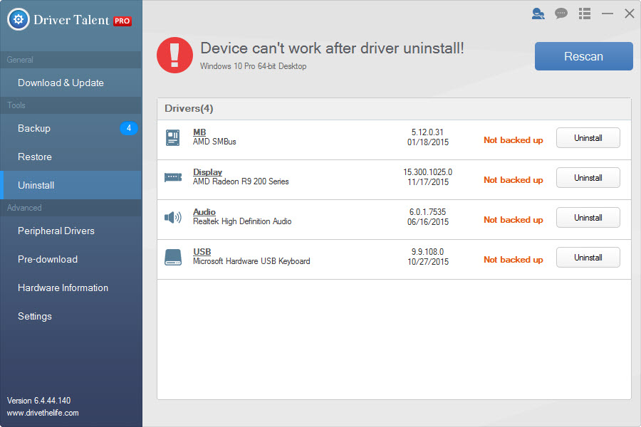 Driver Talent Pro Uninstall