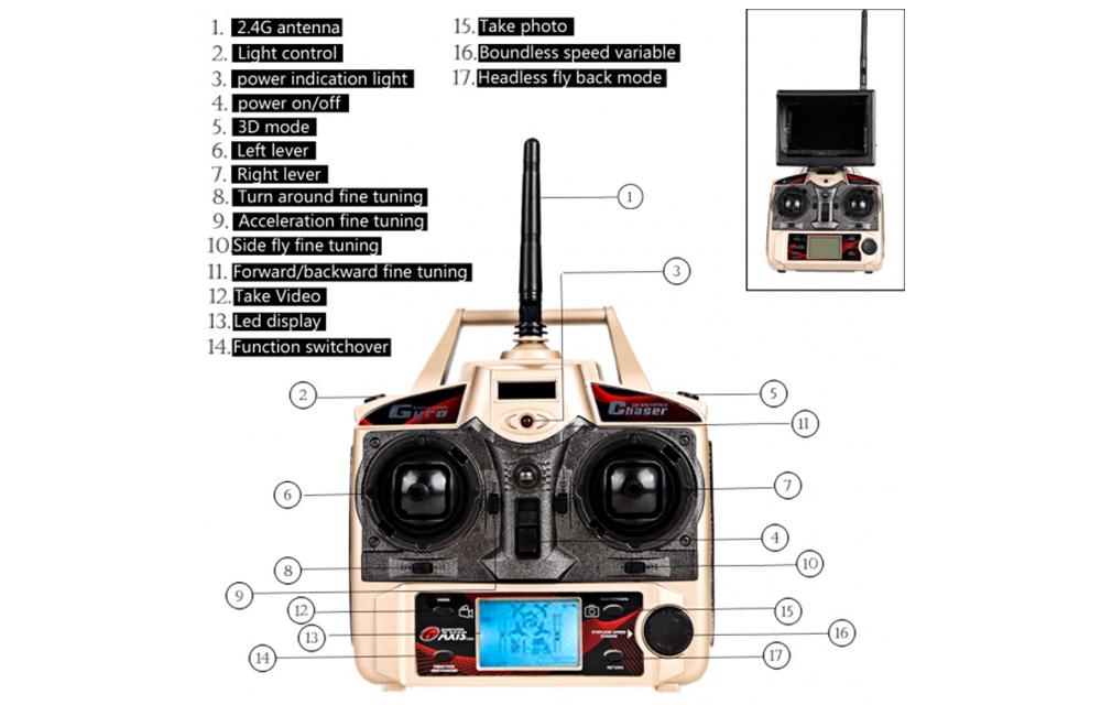 JJRC H8D Drone Remote Controller