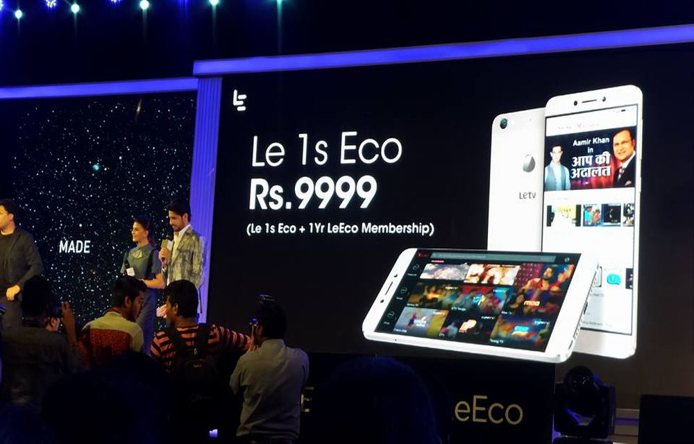 LeEco Le 1s Eco Launched In India with Core Media Content Features