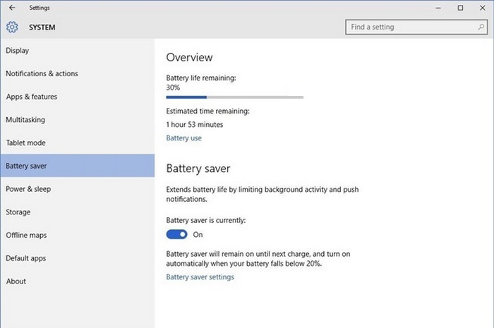 Windows 10 battery usage -2