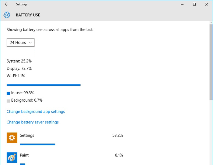Windows 10 battery usage -3