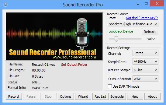 Sound Recorder Pro Interface