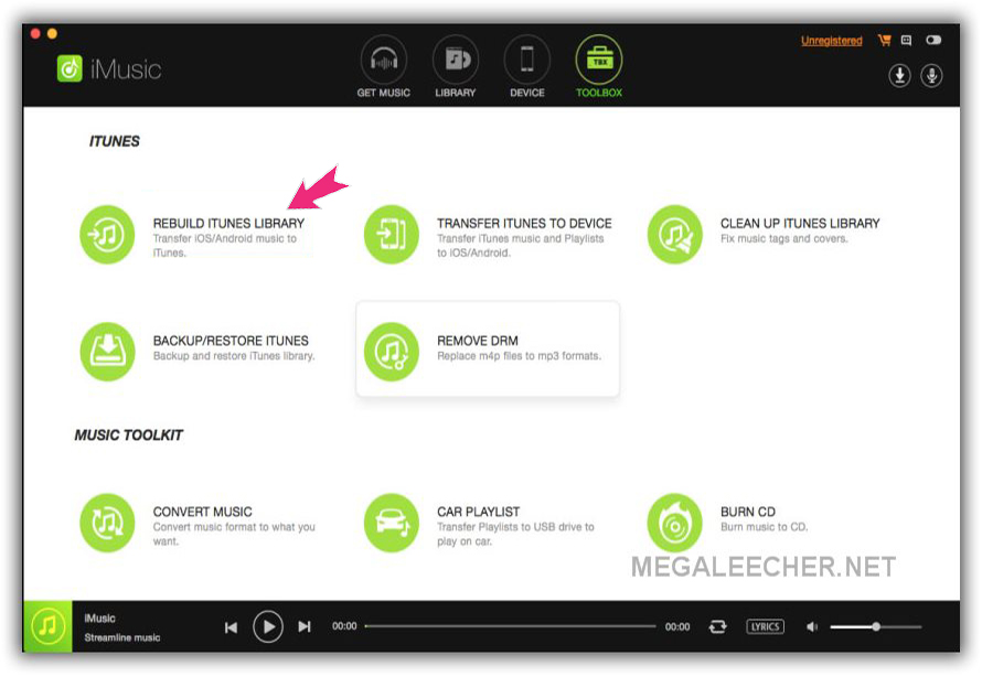 iSkysoft iMusic Rebuild iTunes Library