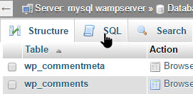 wp-remove-comment-ip-address-select-the-sql-panel