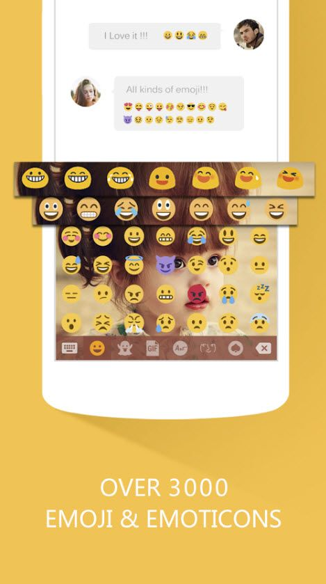 Emoji Keyboard + GIF Emoticons
