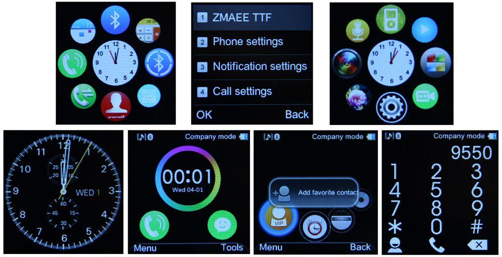 King Wear GT08 Display Screenshots