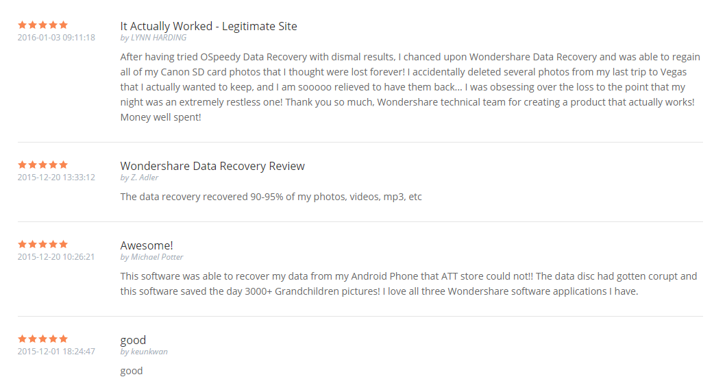 Wondershare Data Recovery User Reviews-2