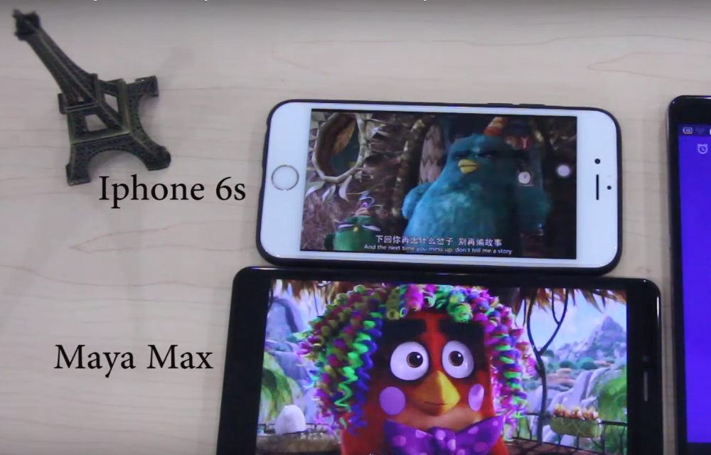 Bluboo Maya Max vs iPhone 6s - Battery Endurance Comparison Video
