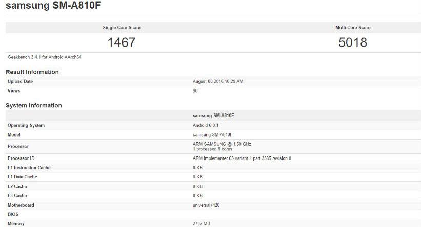 Samsung SM-A810F