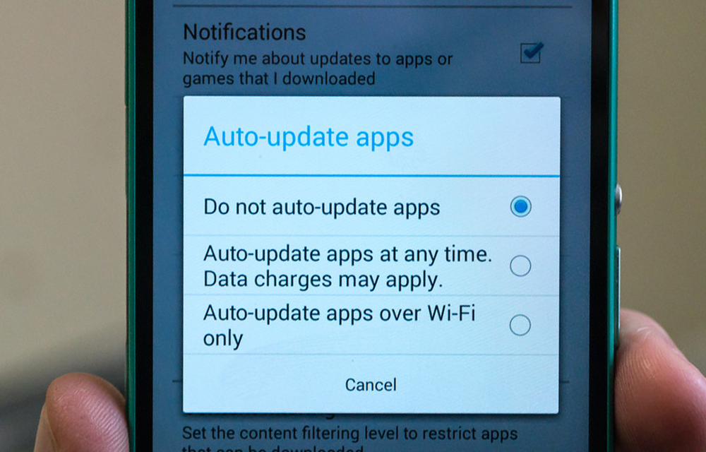 Turn off Automatic App Updates in Android