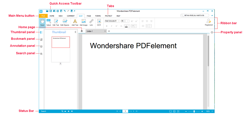 Wondershare-PDFelement-Interface