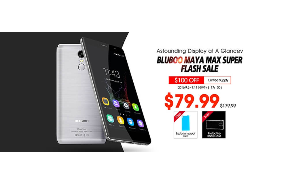 Bluboo Maya Max Super Flash Sale