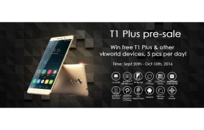 VKWorld T1 Plus Kratos on Pre-sale, Lucky draw Giveaway and Anniversary Offers