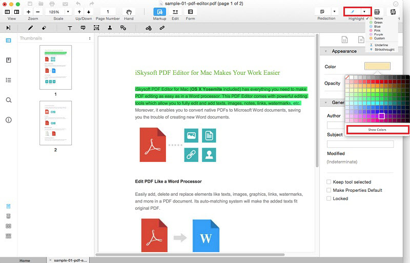 mac word to pdf multiple hyperlinks