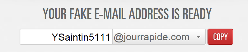 Generate Fake Email Address